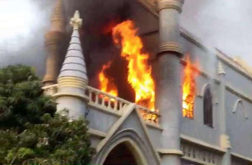 जबलपुर हाईकोर्ट की बिल्डिंग में लगी भीषण आग, कारणों का खुलासा नहीं