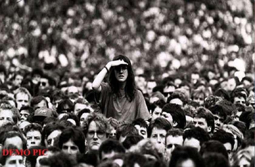 short people in crowd