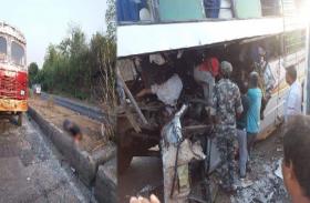 हजारीबाग:भीषण सड़क दुर्घटना में 11 की मौत, 20 घायल, मृतकों में पिता-पुत्र भी शामिल
