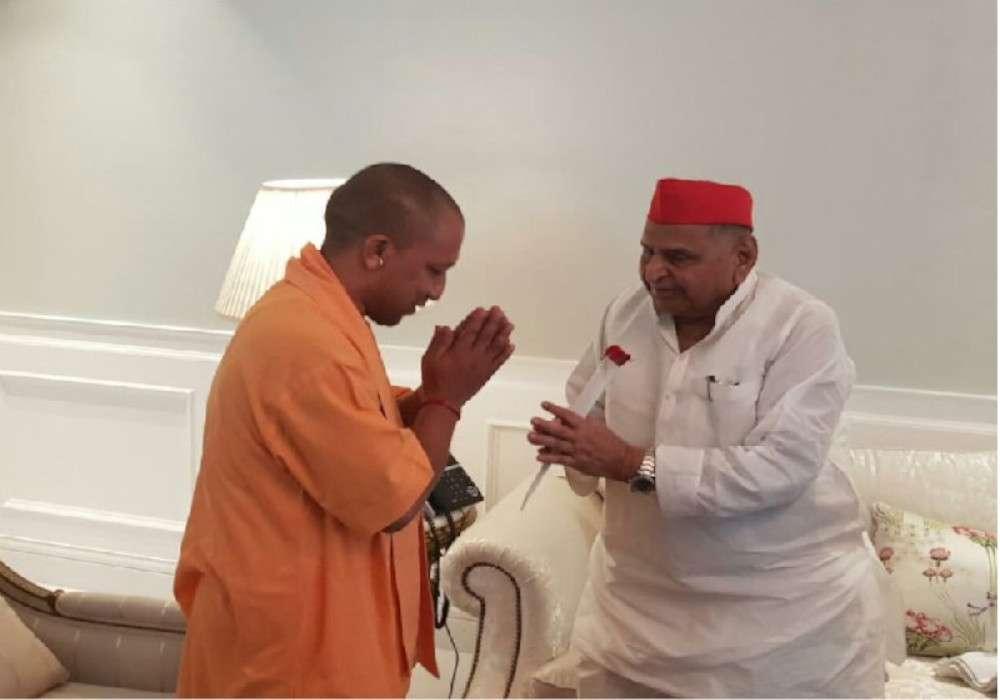CM Yogi Adityanath meeting with Mulayam