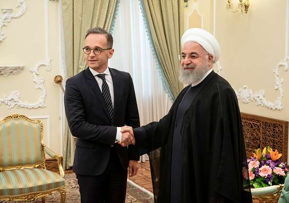 Hassan Rouhani with German Foreign Minister