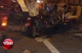 VIDEO : Yamuna Expressway पर बड़ा हादसा, कार और ट्रक में भीषण टक्कर, तीन की मौत
