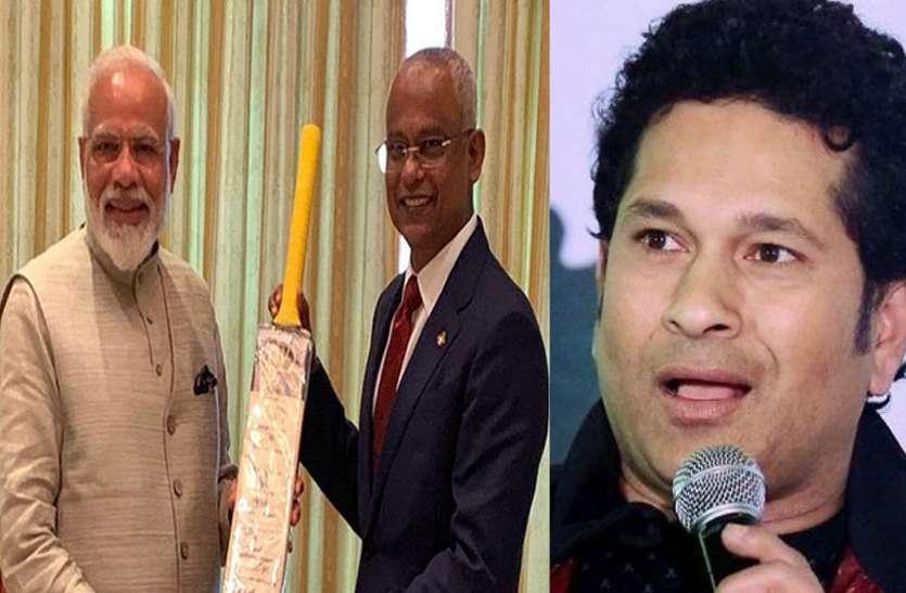 क्रिकेट को प्रमोट करने के लिए मास्टर ब्लास्टर सचिन ने प्रधानमंत्री मोदी का शुक्रिया अदा किया