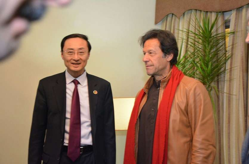 Sun Weidong with imran khan
