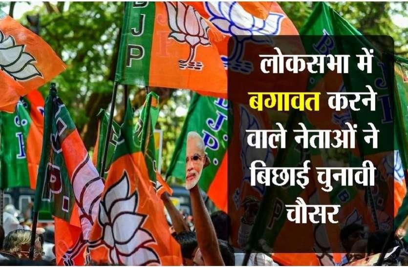 बगावत करने वाले नेताजी की चुनावी चौसर, भाजपा में खलबली..