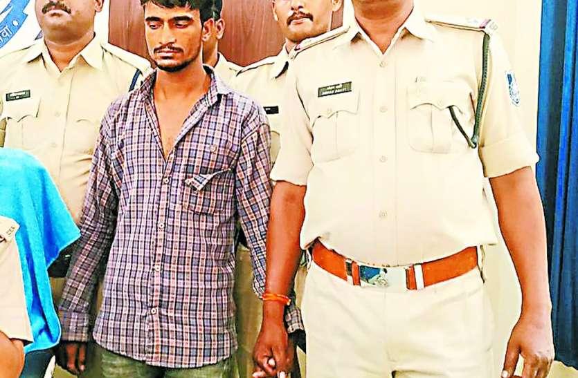 हत्या, अपहरण के आरोपी को मंदसौर जिले से पकड़ा