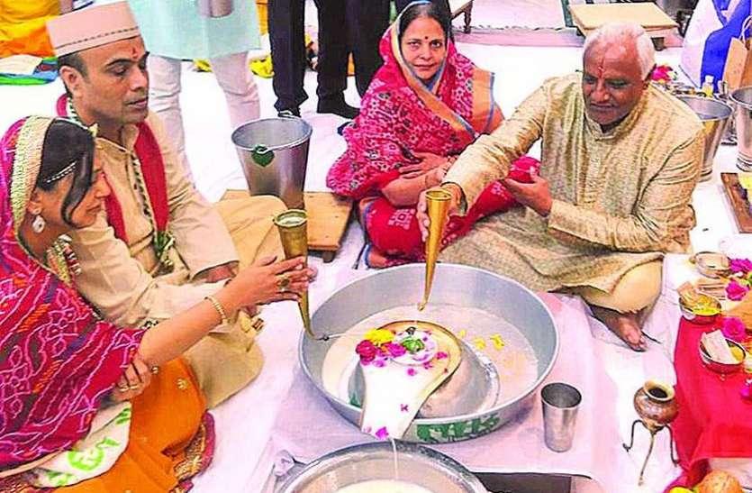 महेश नवमी पर श्रद्धापूर्वक हुआ भगवान शिव का रुद्राभिषेक