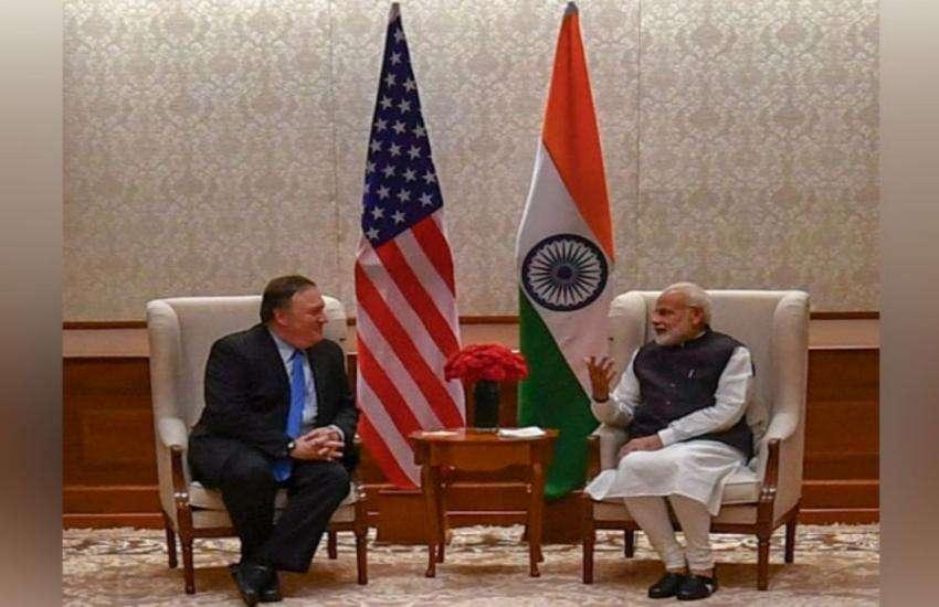 पीएम मोदी और अमरीकी विदेश मंत्री माइक पोम्पियो