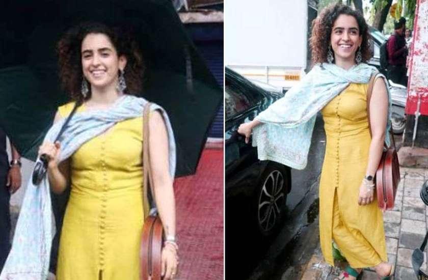 Sanya Malhotra Enjoys first mumbai rain latest photos