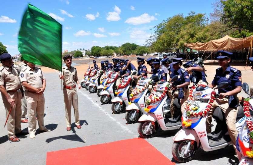 शक्ति टीम के वाहनों को हरी झंडी दिखा कर किया रवाना