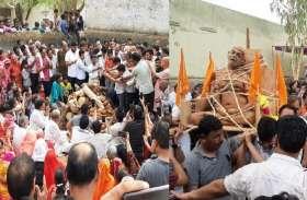 जैन मुनि विश्वनाथ सागर का हुआ अंतिम संस्कार, दर्शनों के लिए उमड़ा जनसैलाब