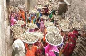 श्रमदान करने महादेव की बावड़ी में पहुंची महिलाएं, जयघोष के साथ की श्रमदान की शुरुआत