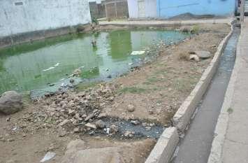 निकासी के अभाव में महीनों से भरा पानी, नपा अब 100 प्लाट मालिकों को थमाएगी नोटिस