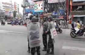 RANCHI: प्रतिमा क्षतिग्रस्त किए जाने के विरोध में रांची बंद का दिखा मिलाजुला असर