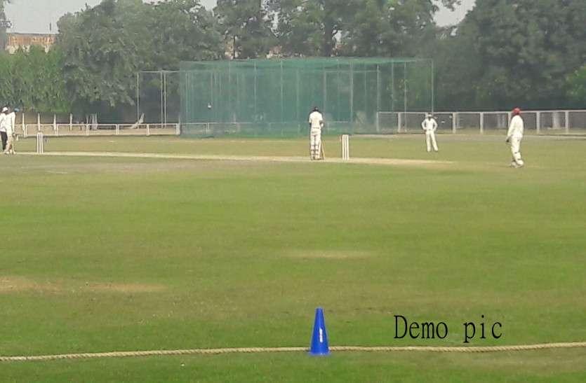 अंतरराष्ट्रीय मैचों की तर्ज पर श्रीगंगानगर में शुरू हुआ जिला स्तरीय क्रिकेट मुकाबला, रंगीन पौशाक में खिलाड़ी लगाएंगे चौके-छक्के