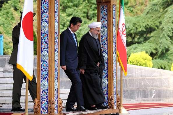 Shinzo Abe With Hassan Rouhani