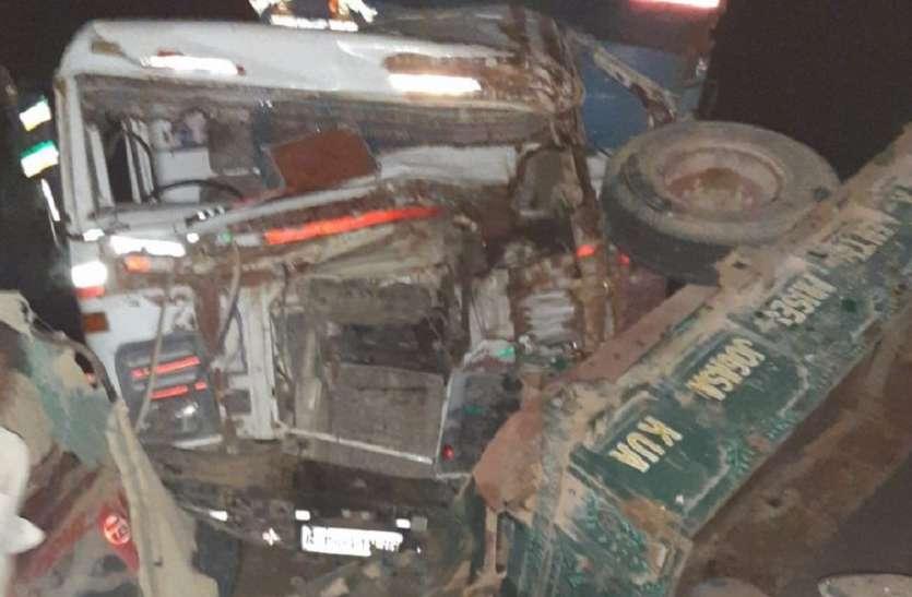 जैसलमेर में यहां ट्रक की ट्रेक्टर से भिड़ंत,एक की मौत