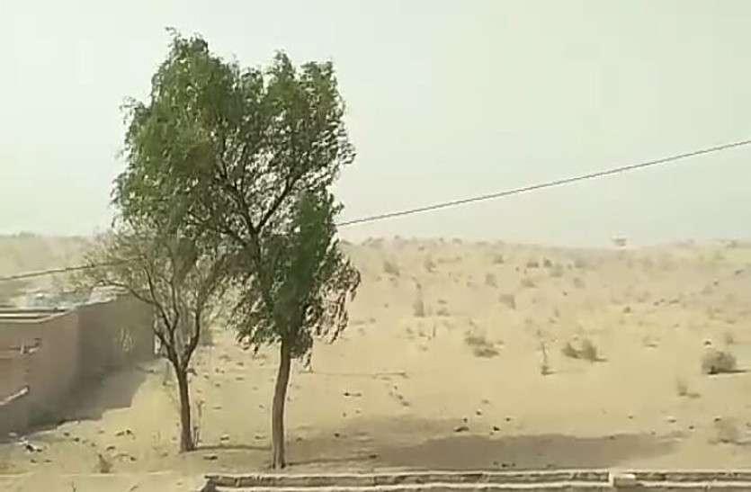 जिला मुख्यालय पर तीखी धूप, रामसिंहपुर में आंधी से राहत