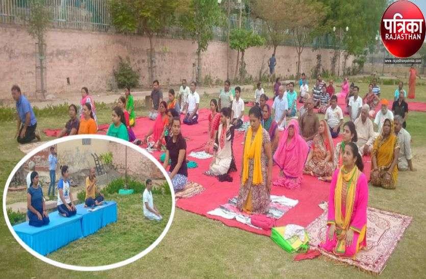VIDEO : Patrika Yoga camp : पालीवासियों ने दिखाया उत्साह, योग प्रशिक्षकों ने सिखाए स्वस्थ रहने के गुर