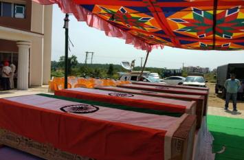 Jarkhand Police: नक्सली हमले में शहीद हुए जवानों को दी गई अंतिम सलामी