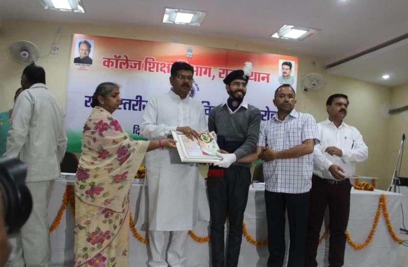 जयपुर ग्रामीण : शाहपुरा का हिमांशु राज्य स्तरीय पुरस्कार से सम्मानित