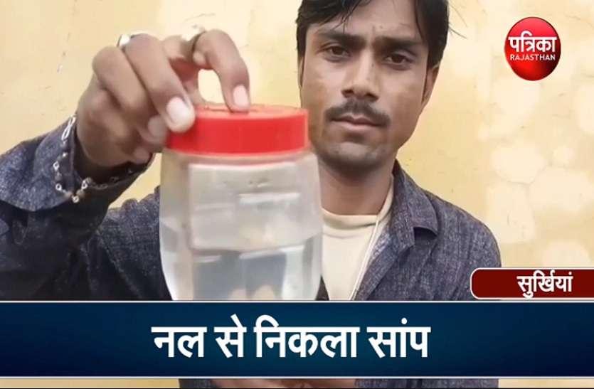 VIDEO : पीने के पानी में निकला सांप, वीडियो में कैद हुआ होश उड़ा देने वाला नज़ारा
