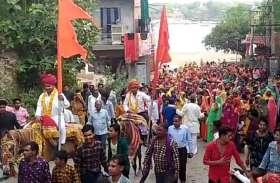 गाजे बाजे से माली समाज ने निकाली कलशयात्रा