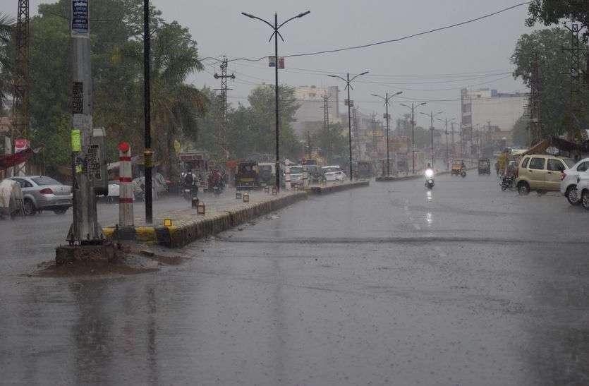 बारिश में खूब नहाया ब्यावर शहर, कई जगह पानी भरा