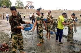 पत्रिका अमृतं जलम्: बंदूक थामने वाले BSF जवान बने स्वच्छता दूत, शिवनाथ नदी को स्वच्छ बनाने किया श्रमदान, Video