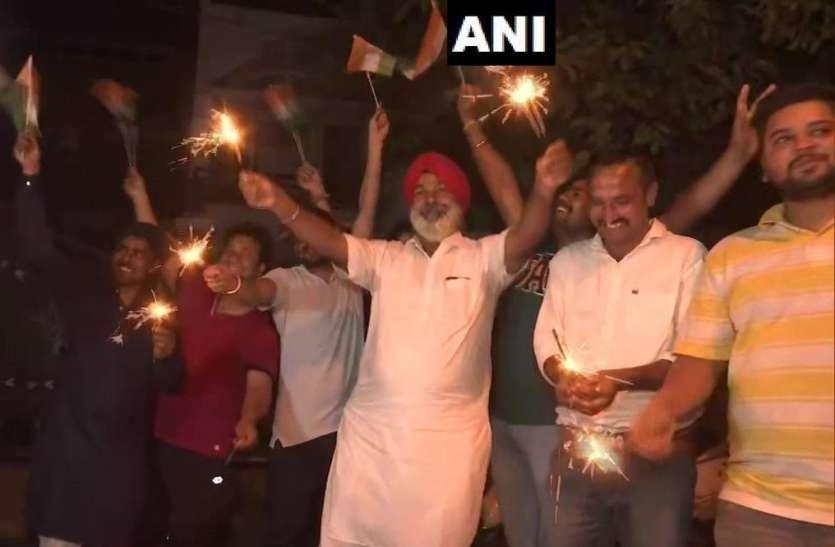 World Cup 2019: आधी रात को हिंदुस्तान में मना टीम इंडिया की जीत का जश्न, दिवाली जैसा बना माहौल