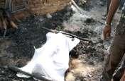 यूपी के प्रतापगढ़ में दलित को चारपाई से बांधकर झोंपड़ी में जलाया।