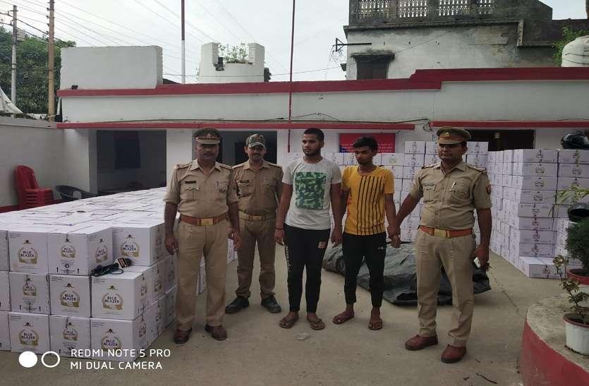 बिहार जा रही 15 लाख की अवैध शराब बरामद- देखें वीडियो