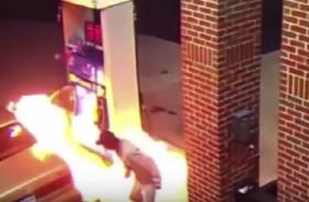 पंप पर हंगामा ,ग्राहक पर पेट्रोल छिड़क आग लागने की कोशिश