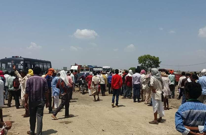 मक्का बीज नहीं मिलने से नाराज किसानों ने लगाया जाम