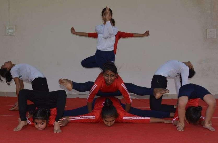अलवर में चल रही योग दिवस की तैयारियां, देखें तस्वीरें