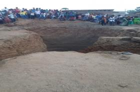Chatra: निर्माणाधीन कुआं धंसा, मिट्टी में दबने से दो मजदूरों की मौत
