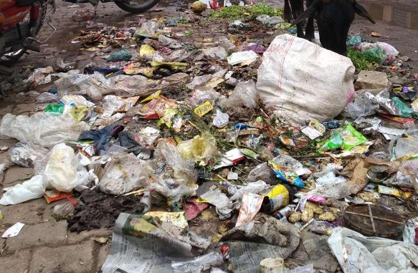 25 टन कचरे के ढेर पर था पन्ना, शाम को झाडू चली तो ली राहत की सांस