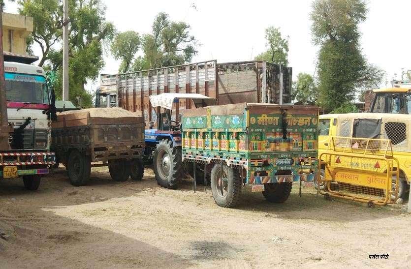 बनास में बजरी के खनन व परिवहन पर लगी रोक के बाद 10 हजार वाहन पकड़े, 9 करोड़ का जुर्माना भी किया वसूल