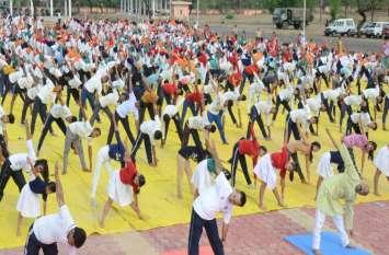 अंतरराष्ट्रीय योग दिवस बच्चों ने किया योग