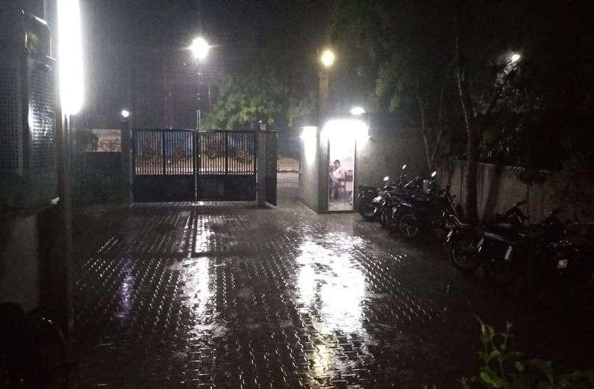 पाली शहर में लेट नाइट बारिश, मौसम खुशनुमा