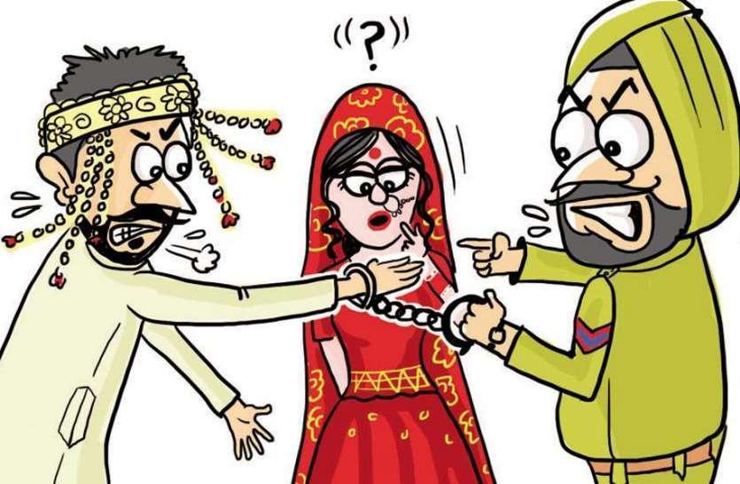 dowry case : दहेज के लिए पति, सास व जेठ ने घर से निकाला
