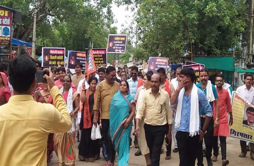 बिजली कटौती के विरोध में बीजेपी ने एक दिवसीय धरना देकर निकाली रैली, एसडीएम दफ्तर का किया घेराव