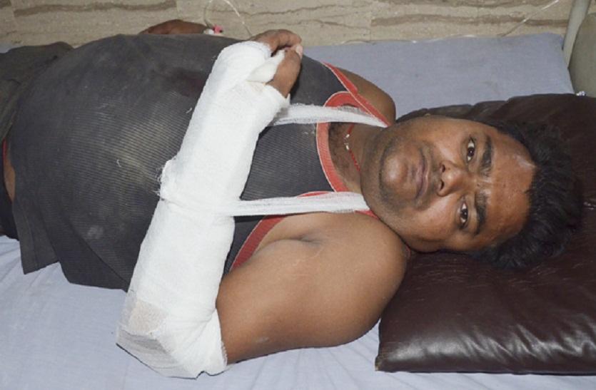 Bharatpur news: सांड़ ने युवक को उछाल कर फेंका, दो जगह से टूटी हाथ की हड्डी