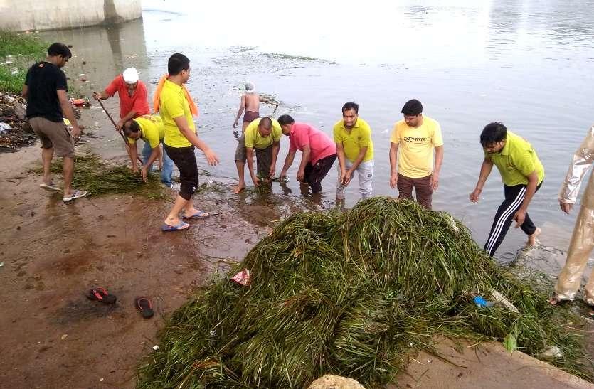 Video: पत्रिका अमृतं जलम्: बारिश में शिवनाथ की सफाई करने पहुंचे महापौर, श्रमवीरों के साथ तट पर रोपे पौधे