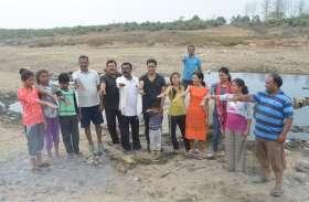आमजनों के श्रमदान से स्वच्छ हुआ मृत्युंजय घाट का बड़ा हिस्सा