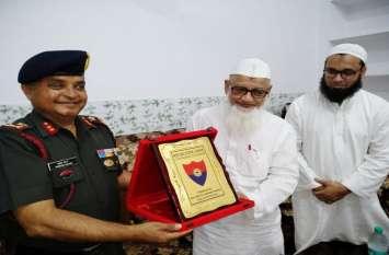 दारुल उलूम का दौरा करने पहुंचे इंडियन आर्मी के मेजर जनरल रिक्रूटमेंट, तलबाओं के लिए कह दी बड़ी बात