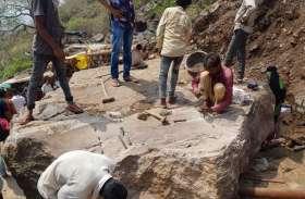 पावागढ़: बारिश के चलते चट्टान गिरने से पदयात्रियों के लिए रास्ता बंद,
