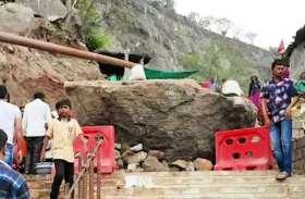 पावागढ़ मंदिर रूट पर चट्टान गिरी, वैकल्पिक रूट की तैयारी