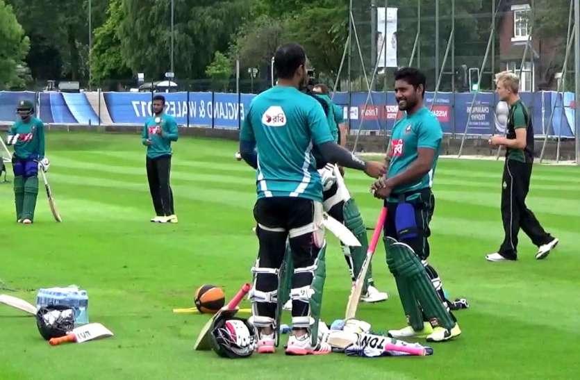 वर्ल्ड कप 2019: बांग्लादेश को मैच से पहले लगा बड़ा झटका, इंटरव्यू के दौरान इस ऑलराउंडर के सिर में लगी गेंद