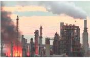फिलाडेल्फिया तेल रिफाइनरी में भीषण आग, कई यूनिट पूरी तरह से बर्बाद